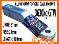 Aluminium Forged Towbar Tongue Ball Mount 51mm Drop To Suit 4x4 4wd Trailer