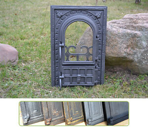 Bread Oven /pizza Stove Fireplace Dz019 Pleasant To The Palate 34,5x53cm New Cast Iron Fire Door Clay Hardware