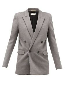 YSL Double-breasted virgin wool and cashmere blazer