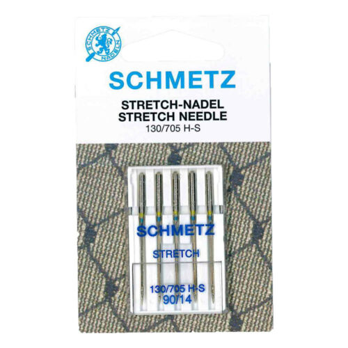 Schmetz Stretch Agujas de máquina con tarjeta de 5 piezas Talla 90//14