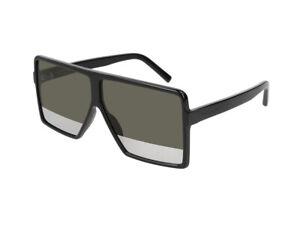 6dcdfdf69dc lunettes de soleil Yves Saint Laurent SL 183 BETTY S noir argenté ...
