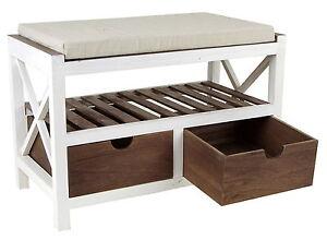 landhaus sitzbank flurbank holz wei holzbank schuhregal. Black Bedroom Furniture Sets. Home Design Ideas