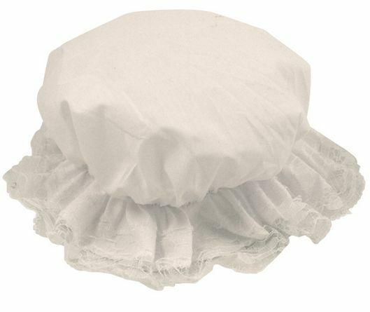 Girls Child s White Poor Victorian Maid Servant Fancy Dress Costume MOP Cap  Hat  af619bf068b2