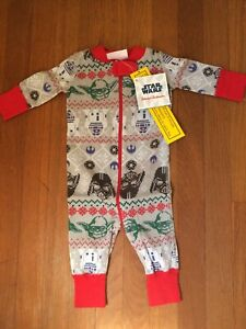 Hanna Andersson Baby Pajamas PJs Star Wars Christmas 0-6 ...