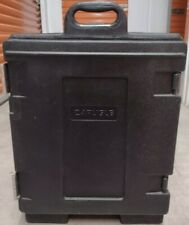 Carlisle Pc300n03 Insulated Food Pan Carrier Cateraide End Loading Plastic Black