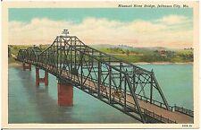 Missouri River Bridge in Jefferson City MO Postcard