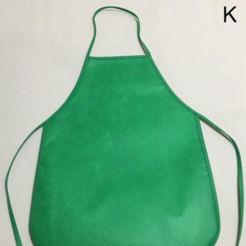 Kids Children Solid Non-Woven Bib Aprons Painting Craft Handmake Class Wear