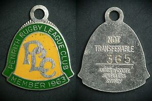 Penrith-Panthers-Leagues-Club-Member-badge-1963-MINT