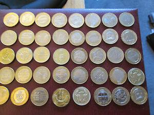 Seltenes Andenken Zwei Pfund Münzen Selten Britischer Münze 1986
