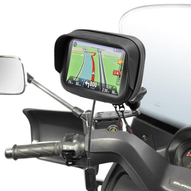 "Suzuki Burgman 125 200 400 650 Support & Bag for Navi GPS TomTom Garmin 4.3"""