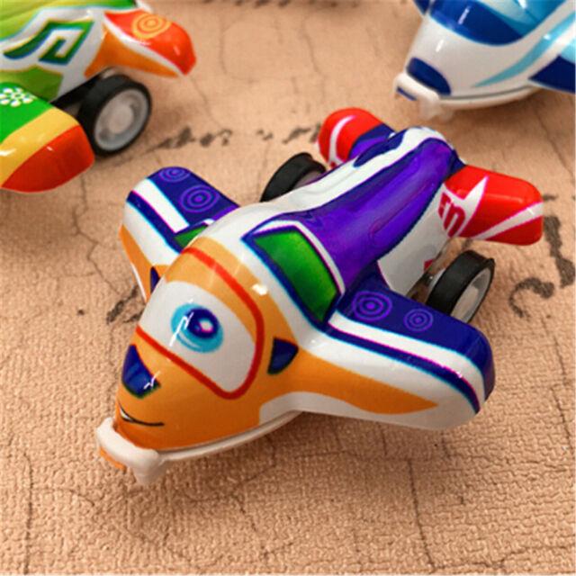 3Pcs Plastic Air Bus Model Kids Pull Back Airliner Passenger Plane Toy Gift WA