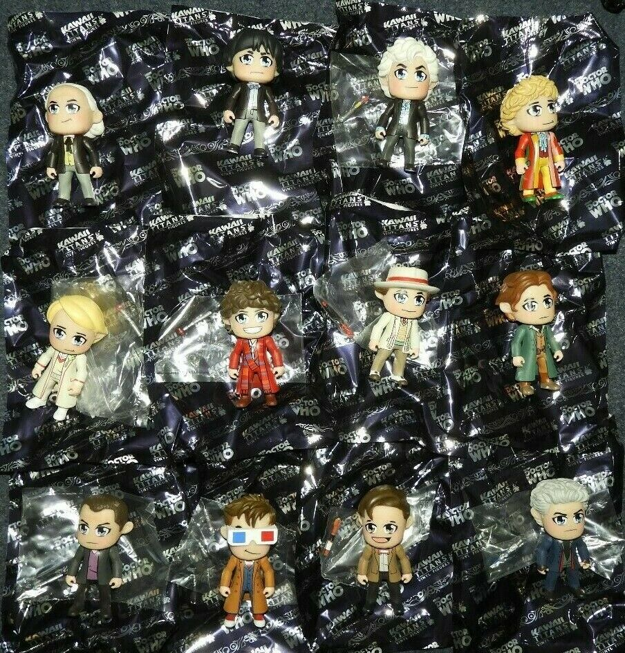 DR WHO TITANS VINYL FIGURE 3  KAWAII  FULL SET OF ALL 12 FIGURES + 4 CHASE