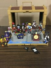 Playmobil Pirate Large Pirate Lot 11 People & Accessories Swords Treasure Gold