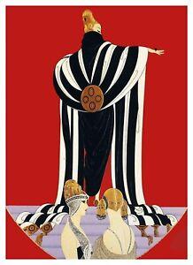 Art-Deco-Femme-Par-Erte-Romain-De-Tirtoff-Point-de-Croix-Motif