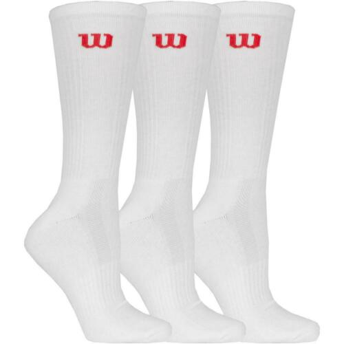 WILSON MENS PREMIUM CREW SOCK 3 PER PACK BLACK OR WHITE 39-46 FREE UK POSTAGE
