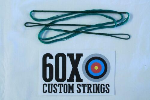 "60X Custom Strings 47/"" Fast Flight Green Recurve Bowstrings Bow String"