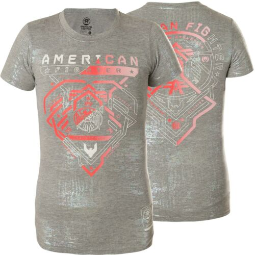 di T American di Damen fighter Elder affliction shirt Hellgrau HxzxZXT
