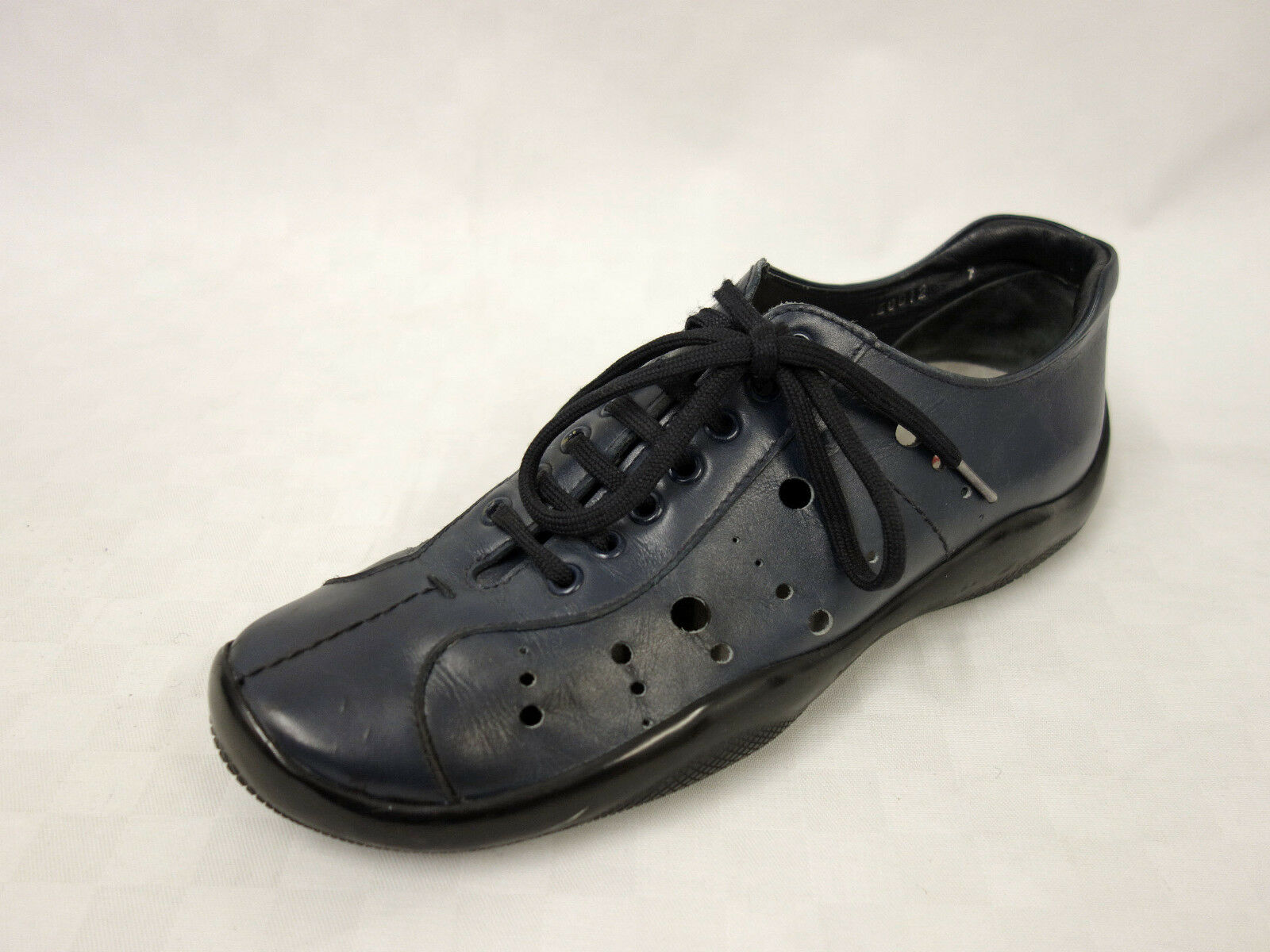 PRADA Leder Schnürer Gr.41UK7 Turnschuhe Schuhe Halbschuhe Leather schuhe Blau    | Modisch