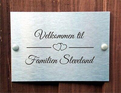 Norwegian Postbox Door Plaque Personalised Family Names House Name.