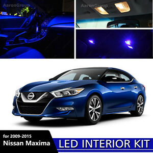 17PCS Blue Interior LED Light For 2009-2015 Nissan Maxima White for License  606825181131