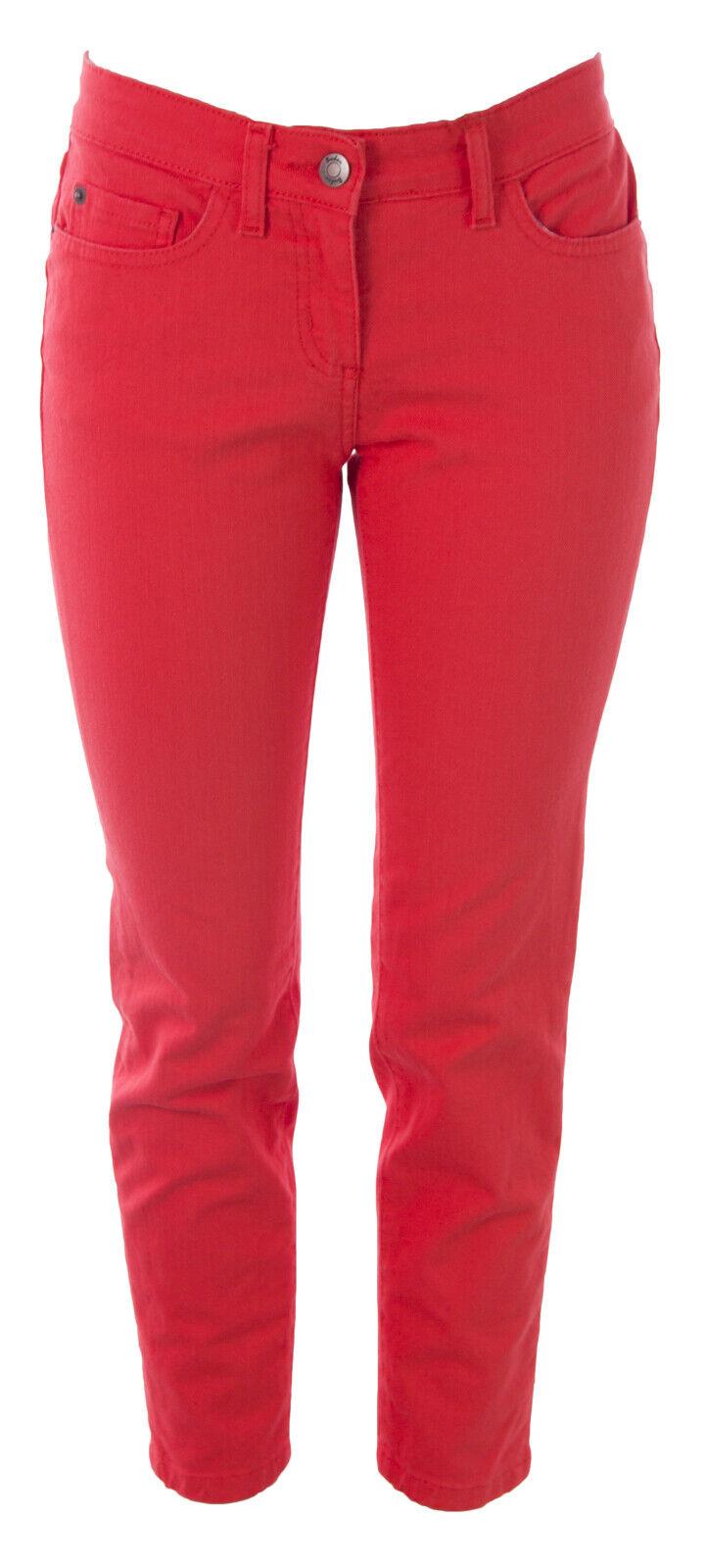 Boden Donna Portland Arancione Aderente Caviglia Skimmer Jeans Wc121 USA