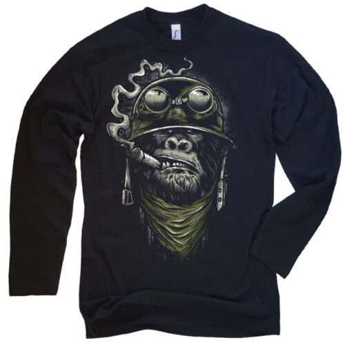 Gorilla Motorcycle Chopper Bobber Long Sleeves Men/'s S-XXL Biker Long Sleeve