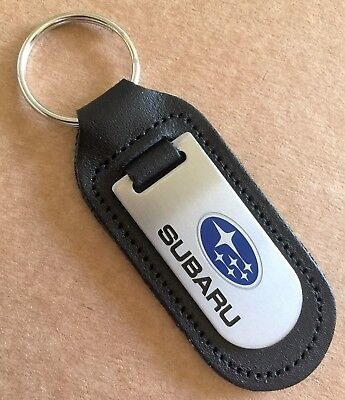 Xv Genuine Leather Outback Forester Impreza Key Fob New Subaru Key Ring