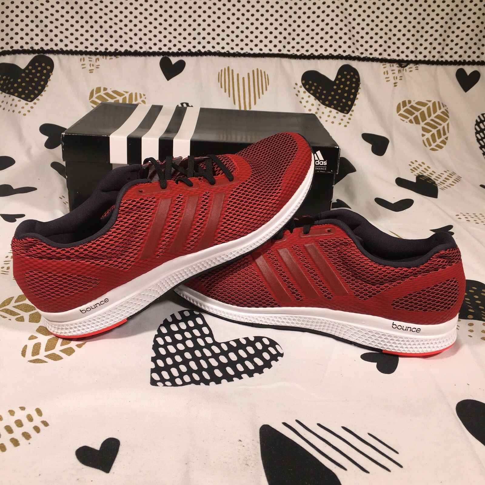ADIDAS Mens Mana Bounce M AQ7860 Red White Size 13