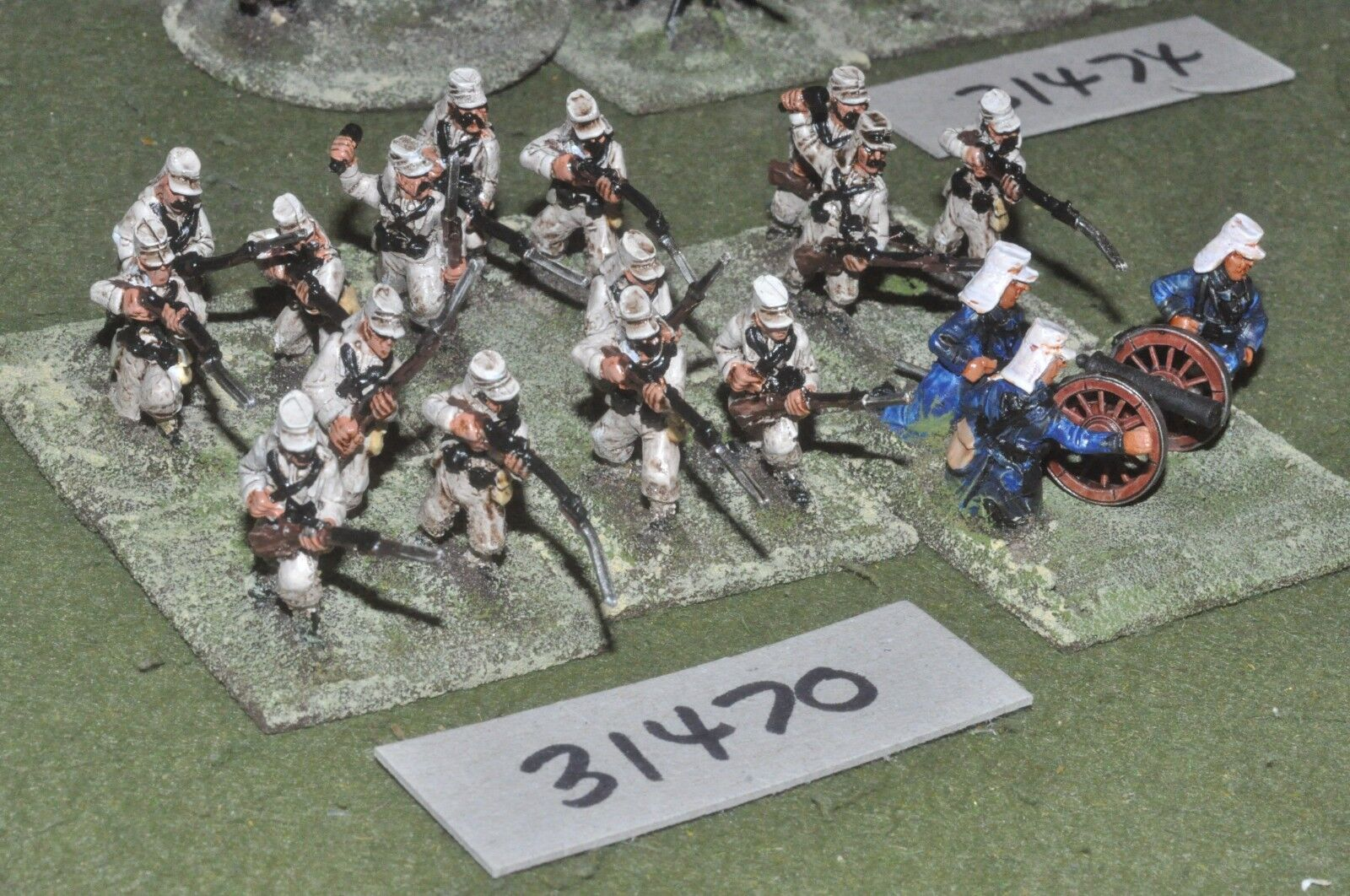25mm colonial   french - foreign legion platoon 18 figures - inf (31470)