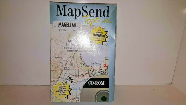 Magellan USA Mapsend Topo & Street Maps 330 Series Software Complete CD-ROM  Set