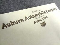 Auburn Automobile Company Stationary Note Pad - Sales Sheet Emblem Speedster