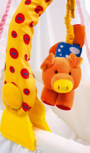 Spielbogen Mobile Tiere  für Kinderwagen  Kinderbett  Buggy  Baby