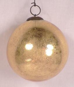 Details About Antique Kugel Christmas Ornament Gold Ball Mercury Glass German 2 75in 164