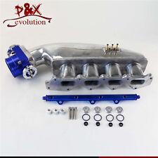 BL Fuel Rail &80mm Throttle Body & Intake for Mitsubishi CE9A EVO 1 2 3 4G63