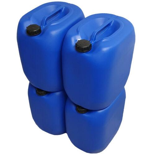 4x 30 Liter  Kunststoff Kanister blau Plastikkanister Wasserkanister gebraucht