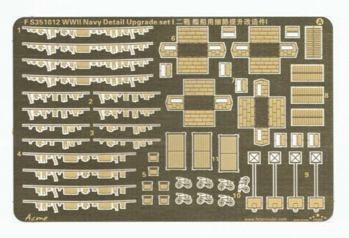 Five Star 351012 1350 WWII Navy Detail Upgrade Set #1