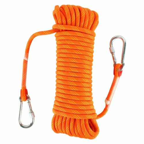 30M Outdoor Climbing Rope Fire Escape Safety Rappelling Rope Orange 96FT