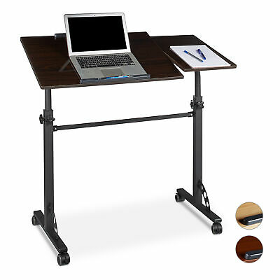 Laptopständer Holz Notebookständer Rollen fahrbar Laptoptisch höhenverstellbar