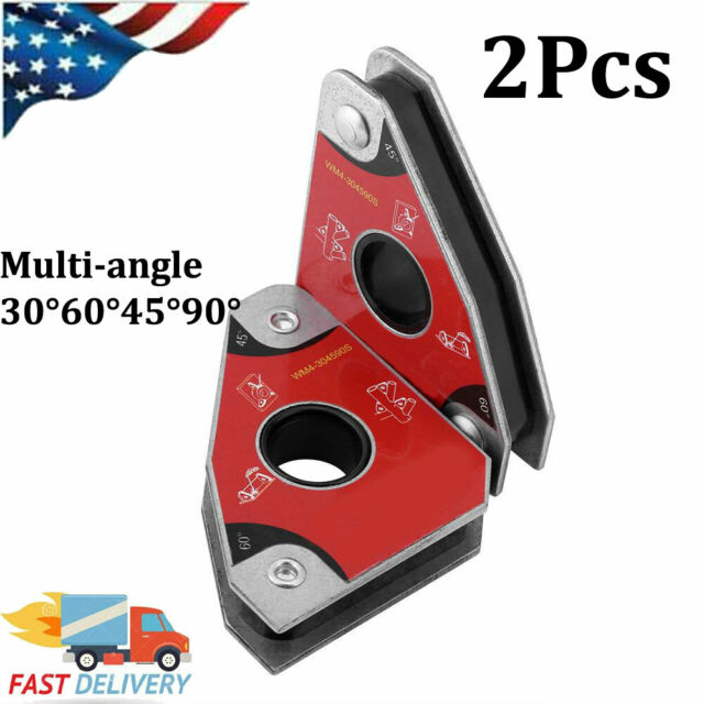 2pcs 30°//60°//45°//90° Strong Force 40kgf Neodymium Welding Magnetic Clamp Holder