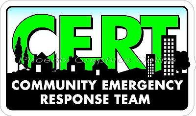 CERT Community Emergency Response Team DHS EMS Paramedic Rescue Decal Sticker
