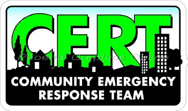 CERT Community Emergency Response Team Reflective Decal Sticker Police EMS SAR