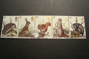 GB-1977-Commemorative-Stamps-Wildlife-Fine-Used-Set-ex-fdc-UK-Seller