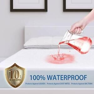 Mattress-Pad-Cover-Protector-Waterproof-Vinyl-Hypoallergenic-for-Queen-Size-Bed