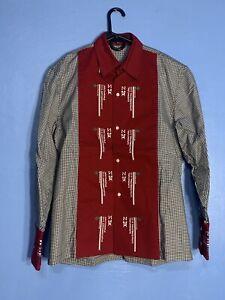 Xander Zhou Plaid Shirt Size 46 (US Small)