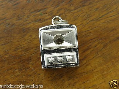 Vintage silver 1950's TELEVISION TV STANHOPE NEW YORK CITY charm MADE IN FRANCE