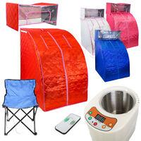 Personal Sauna Steam Room Portable Therapeutic Spa Head Cover Box Chair W/remote
