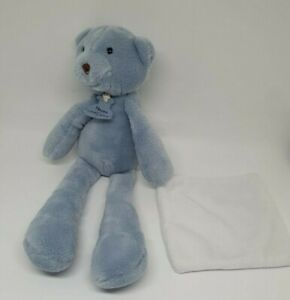 03-DOUDOU-PELUCHE-OURS-BLEU-HISTOIRE-D-039-OURS-MOUCHOIR-BLANC-HO2315-SWEETY-NEUF