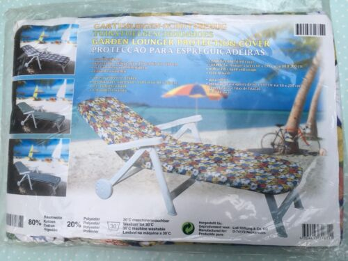 NEW Garden Lounger Cover Retro Vintage Look Floral FIT 60x180cm to 80-200cm