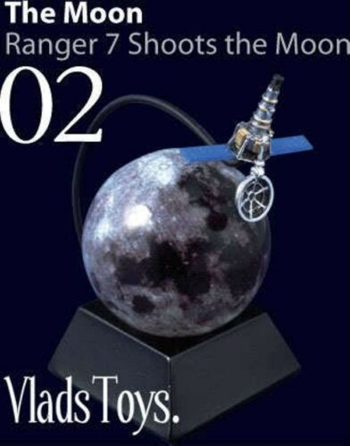 Ranger 7 Shoots the Moon 1st images space 1964 2 TAKARA Royal Science Museum