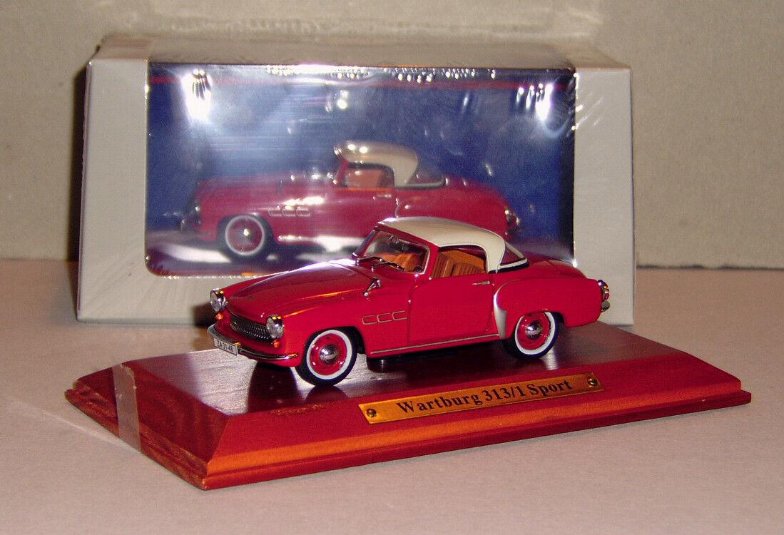 Wartburg 313 Sport Coupe red red red 1 43 Atlas Detailgetreu  Neu in Folie 8cea9c